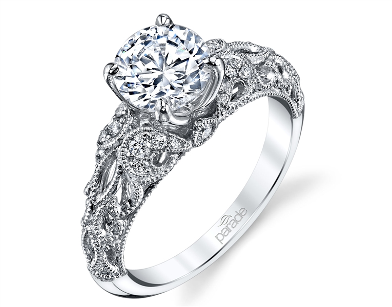 Parade Design Art Deco style diamond engagement ring
