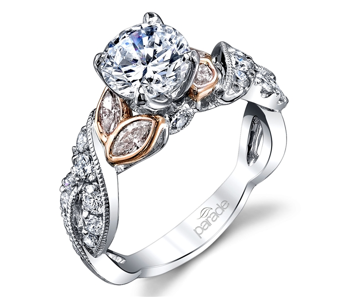 Parade Design twisted band diamond engagement ring