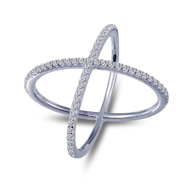 Bi Shang simulated diamond x ring