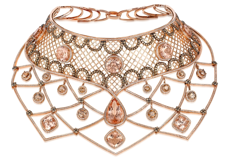 Le Vian Couture Peach Morganite collar necklace