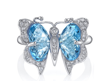 Ande Jewelry Swiss blue topaz butterfly ring