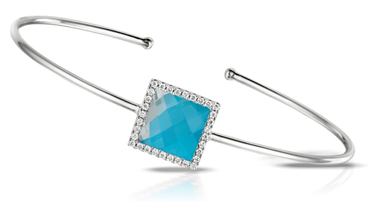 Doves by Doron Paloma St. Barths blue square bangle