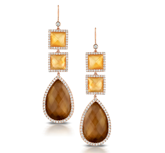 Doves by Doron Paloma Espresso Pearl drop earrings