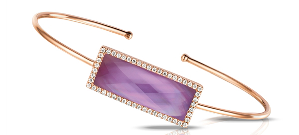 Doves by Doron Paloma rose gold amethyst Viola bangle