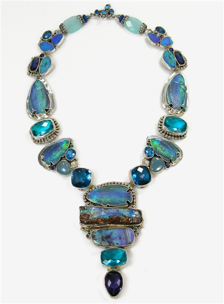 Amy Kahn Russell one-of-a-kind opal fish necklace