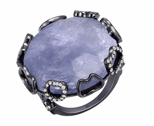 Arya Esha Harper iolite and diamond ring