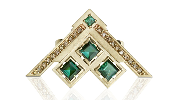 Anita Sondore green tourmaline Soul ring