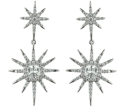 Veronique Idea Corp. starburst double drop earrings