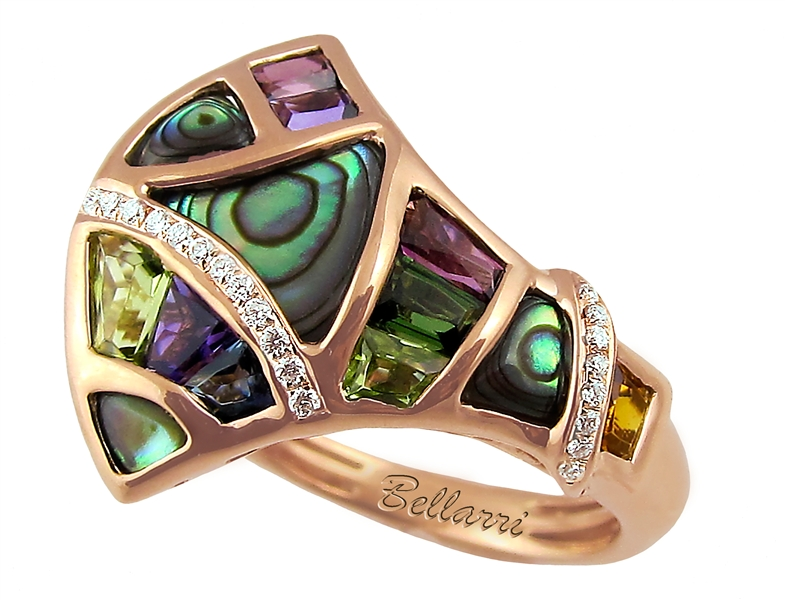 BELLARRI abalone and gemstone Moorea ring
