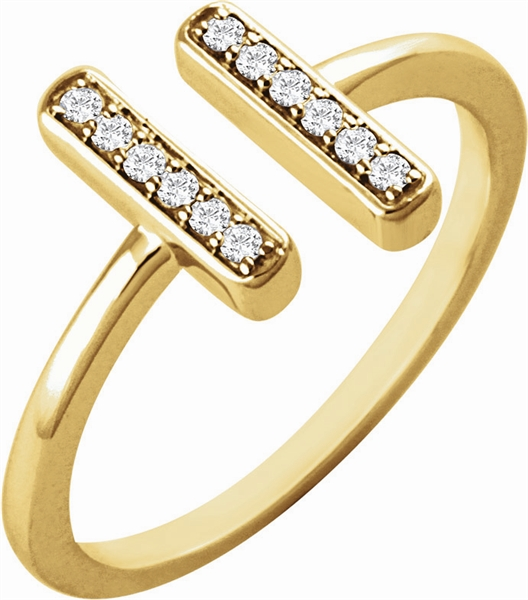 Stuller floating diamond bar ring