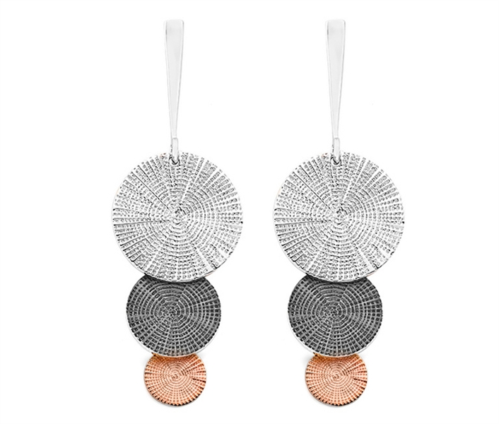 Jorge Revilla Alhambra tricolor tiered earrings
