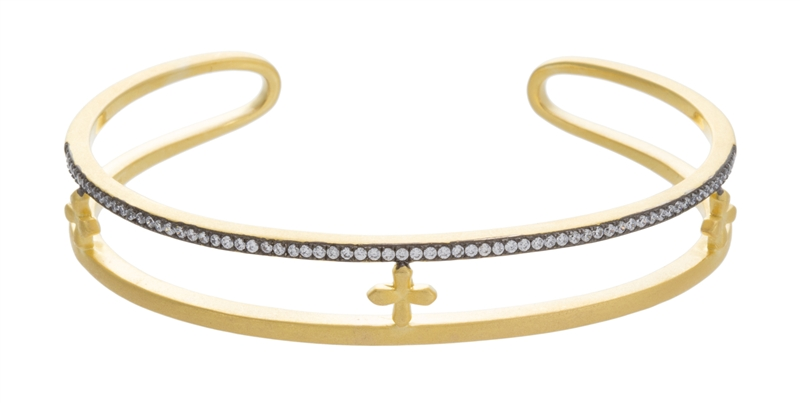 Joey J triple cross cuff bracelet