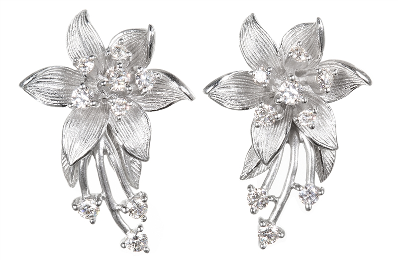 ARIVA East collection floral earrings