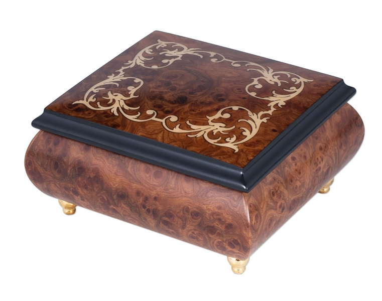 Splendid Music Box Hedy Kagan inlaid jewelry box