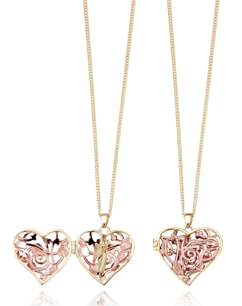 Clogau Gold heart-shape fairy locket