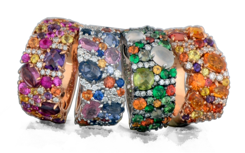 Danhier Tossed collection rings