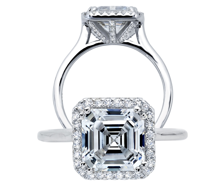 Lafonn Lassaire simulated Asscher cut diamond