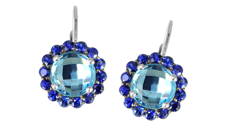 Color Story Reflections blue topaz and sapphire earrings