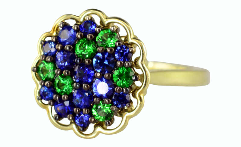 Color Story sapphire and tsavorite Cloud ring