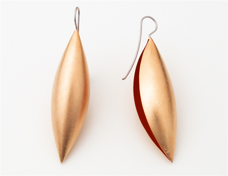 Erich Zimmerman cocoon pendant earrings
