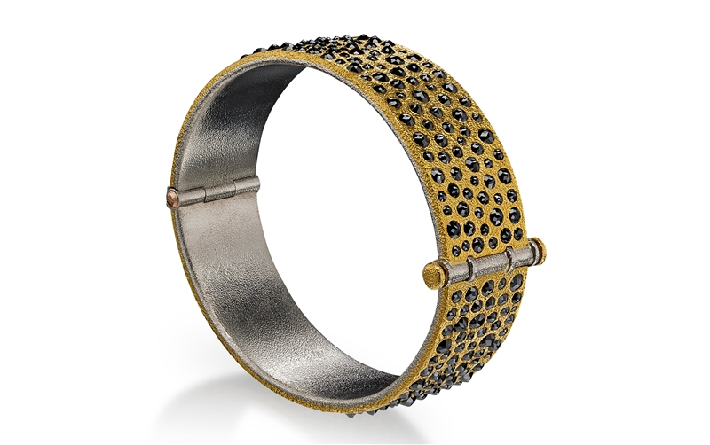 Devta Doolan Jewelry rose-cut black diamond bangle