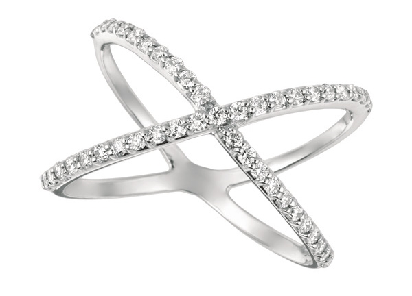 IJM / Morris and David diamond crisscross ring