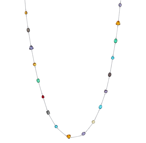 Bi Shang Corp Gumdrop gemstone station necklace