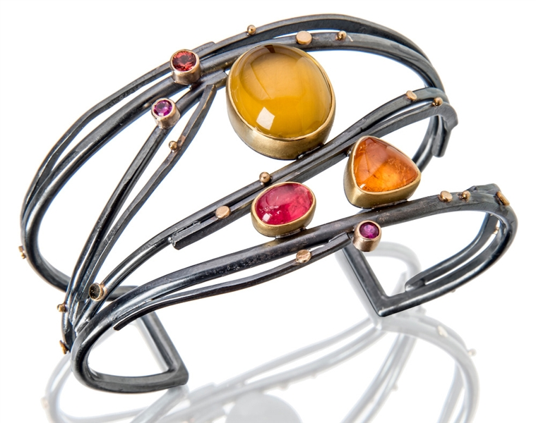 Sydney Lynch Jewelry Juicy Fruit twig cuff bracelet