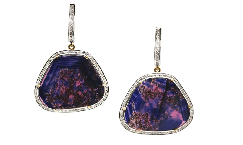 Tresor Flora sapphire slice earrings