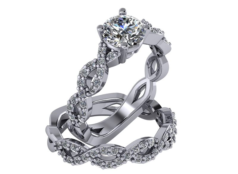 Adwar Casting Company infinity engagement set