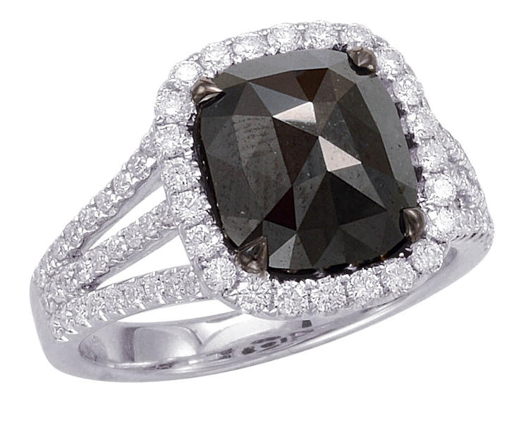 Dilamani Midnight rose cut black diamond ring