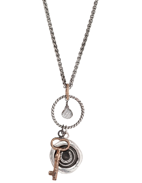Pyrrha Eternal Luck talisman necklace