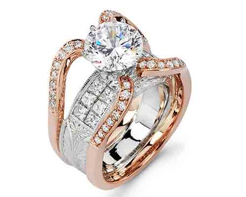Majestic Art Jewelry two-tone Spider engagement ring