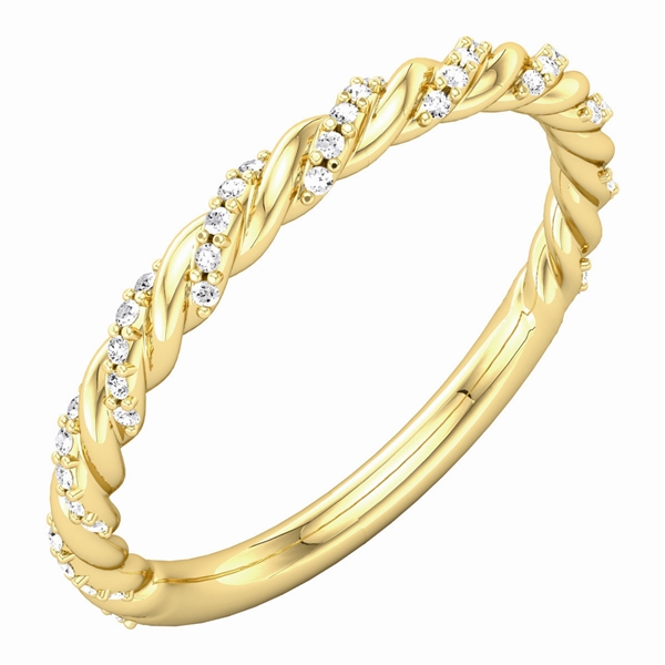 Stuller diamond twist band