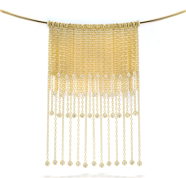 Fern Freeman diamond fringe choker necklace