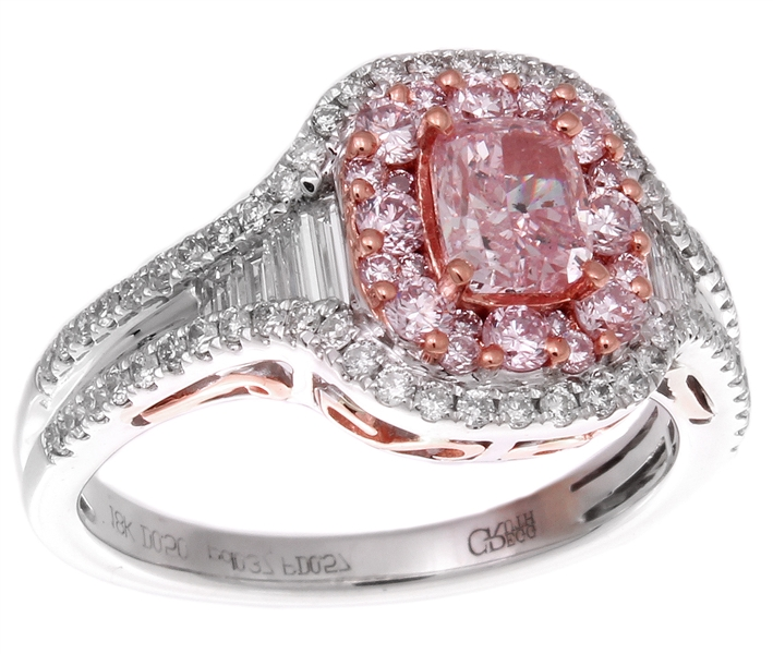 Gregg Ruth fancy pink diamond engagement ring
