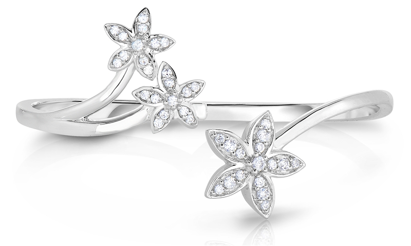 Beauty Gem Natalia Drake diamond flower double finger ring