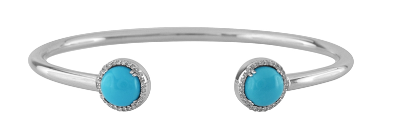 Color Craft turquoise cabochon floating bangle
