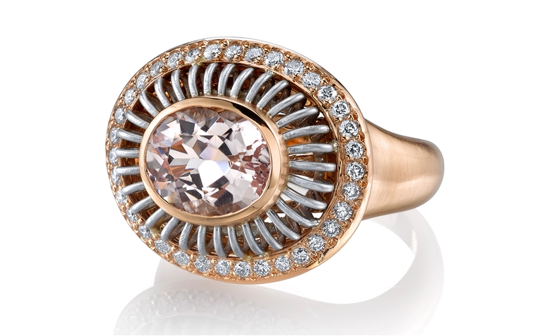 Michael B pink morganite Circa ring