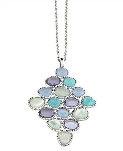 Frederic Duclos Huntington Beach gemstone pendant