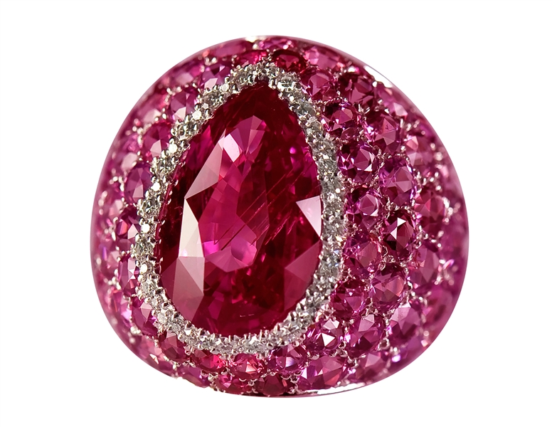 Georland pink sapphire all over ring