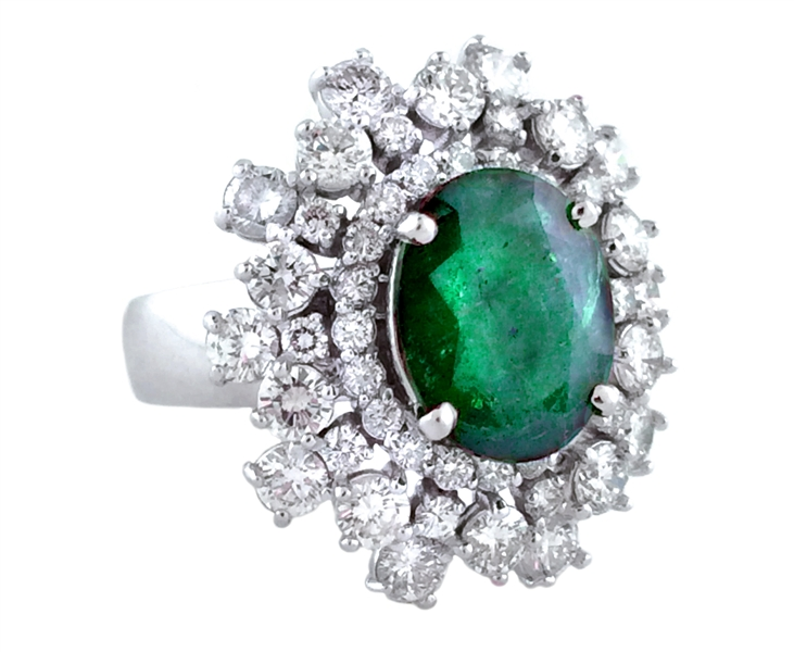 KGM Industries Epitome of Elegance emerald ring
