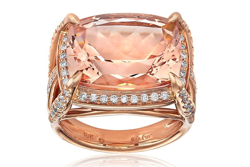Makur Perfect Match morganite cocktail ring