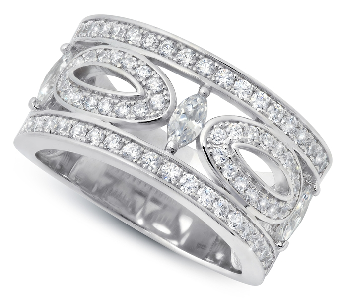 Crislu Corp Romance collection marquise CZ ring