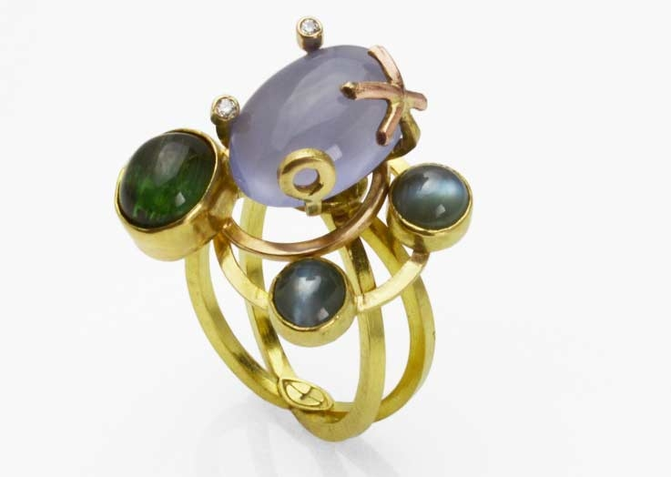 Gina Pankowski Orbite free moving ring
