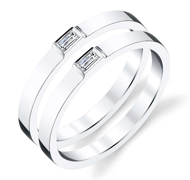 Rhonda Faber Green Equality collection wedding bands