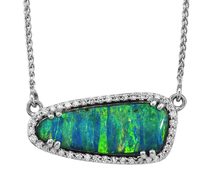 Parle Jewelry Design Australian Boulder opal necklace