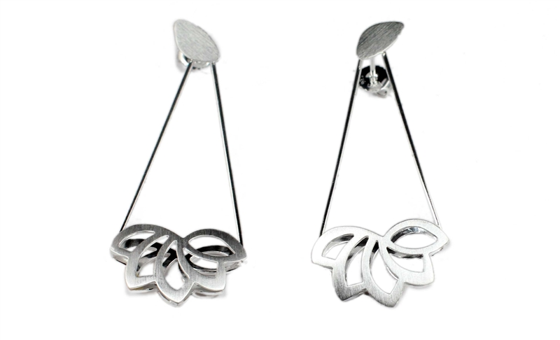 Kelim Jewelry Design Lotus Flower collection drop earrings