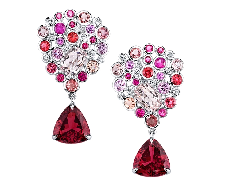 Ian Saude for Kaiser Gems Bouquet earrings