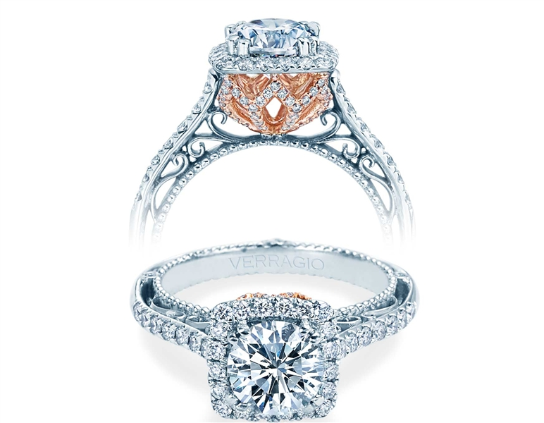 Verragio Venetian halo diamond engagement ring